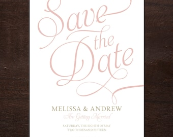 Classic & Elegant Save the Date, Printable Digital File
