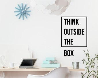 Wall Decorations For Office spring wall decorating ideas images home decoration office decorations my web value dcor to bring Think Outside The Box Motivational Wall Decor Office Decal Text Wall Decal