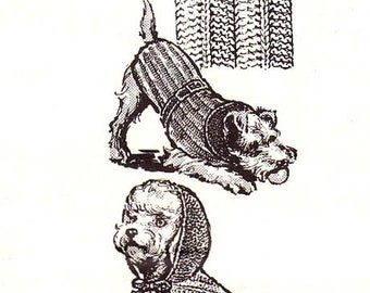 Knit Dog Coat Knitted Hoodie Sweater Blanket Pattern SZ 10 12 14 16 18 Instant Download