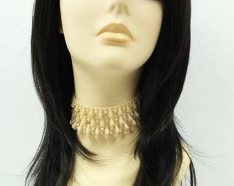Long 19 inch Straight Lace Front Heat Resistant Wig with Off-Black Color. [38-209-Sally-1B]