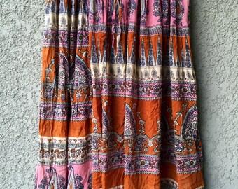 Lotus semi sheer skirt
