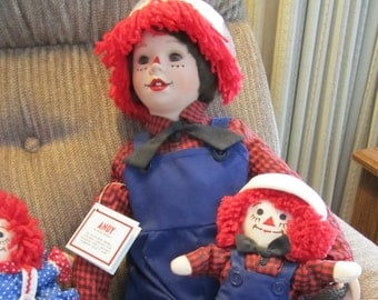 """Raggedy Andy 24"""" porcelain face and hands"""