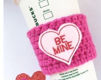 Be Mine // Coffee Cozy