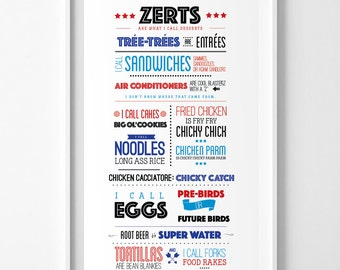 "Apps and Zerts / Tom Haverford Quotation Print / Parks and Rec Quote/ TV Print / Funny TV Sayings / Aziz Ansari / TV Quote   / 13"" x 19"""