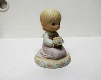 Precious Moments  522287 Thinking of You ... Like to Do  '89   Candle Bowl Marking
