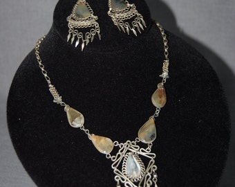 StoneMaile Necklace and Earring Set ~ Vintage