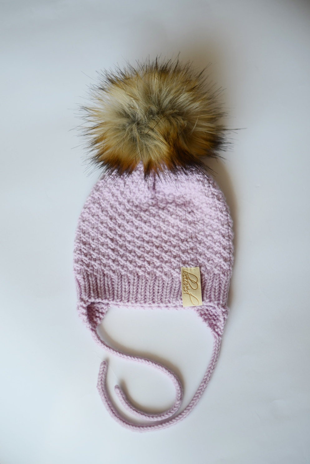 Toddler Girl Knit Hat,wool Baby Girl Hat, Toddler Girl Winter Hat, Faux