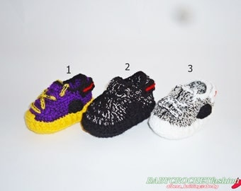 Crochet Yezzy Shoes, Crochet Baby Sneakers, Yezzys, Baby boots, Booties for Baby, Toddler Shoes, West Baby Shoes, 350 boost