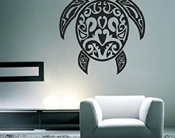 Turtle Tribal Design Wall Decal