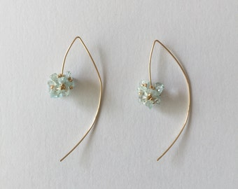 Aquamarine bouquet earrings