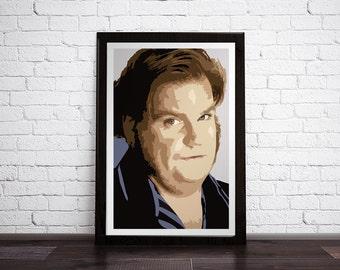 "Chris Farley Portrait - Modern Digital Art Print - 12"" x 18"", 16"" x 20"", 20"" x 30"""