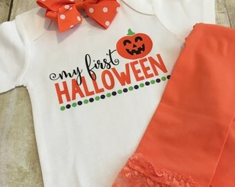 My 1st Halloween Outfit | My First Halloween | Halloween Outfit | Trick or Treat Shirt | Pumpkin Shirt | Baby Halloween Outfit