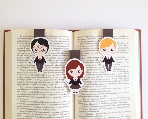Golden Trio Magnet Bookmarks | Harry Potter Gift Guide