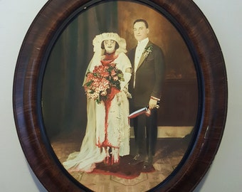 Till Death do You Part - a horror thrift store restoration painting