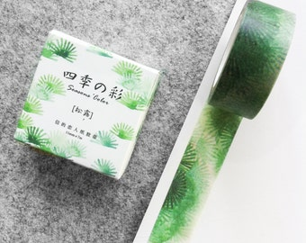 Cute washi tape - green plants #2 | Cute Stationery