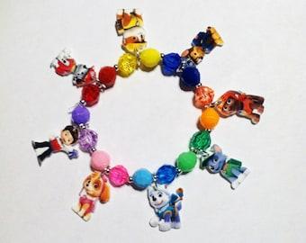 Paw Patrol Bracelet, Paw Patrol Charm Bracelet, Paw Patrol Jewelry, Paw Patrol Party Favor, Paw Patrol Party Favor, Paw Patrol Party