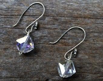 AB Crystal Earrings, Crystal Earrings, Dangle Crystal Earrings, Drop Crystal Earrings, Crystal Jewelry, Wedding Jewelry, Prom Jewelry