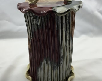 Ceramic, Cannister, Hand Built Pottery, Utensil holder, Kitchen Ware, Kitchen Storage, 15NGAMADE