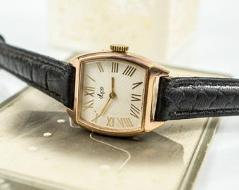 Gold vintage watch, Soviet watch, Women's watch, Women's soviet watch, Vintage watch, Russian watch, Luch 17 jewels, wrist watch