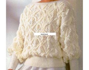 Lace sweater pattern Etsy UK