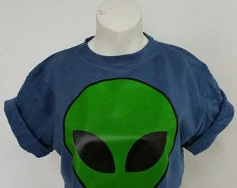 Recycled Alien Head Crop Top