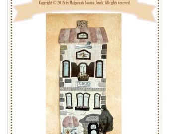 Quilt house -wall hanging quilt -  PDF pattern by MJJenekdesigns