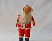 Vintage Rubber Face Santa Doll Christmas Decoration