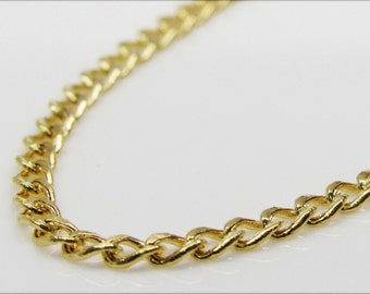 Gold Italy Cuban Chain 18 Inches 2MM