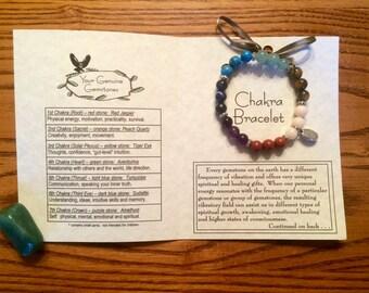 Chakra Gemstone Bracelet, Healing, Energy