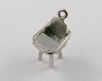 Mechanical High Chair With Movable Tray Sterling Silver Charm or Pendant.