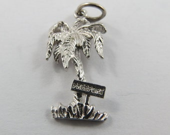 Sterling Silver Charm of a Palm Tree from Freeport.