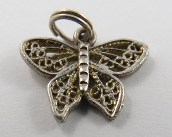 Small Butterfly Sterling Silver Charm or Pendant.