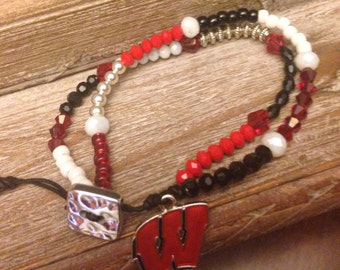 Wisconsin Badgers Bracelet