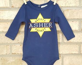 Baby Onsie | Sheriff Onesie | Deputy Onesie | Sheriff Birthday | Baby Boy |Baby Girl | Baby Shower Gift | Boys Clothes | Girls Clothes