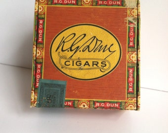 Vintage R.G. Dun Cigar Box, Mini Cigar Box, Intermission, 1950's