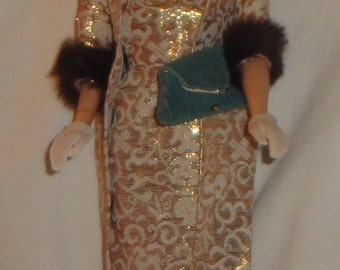 Mattel Vintage Barbie Tagged Evening Splendour #961 (1959-1964) with Reproduction Barbie