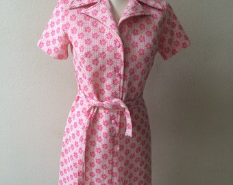 1960s Floral Housedress