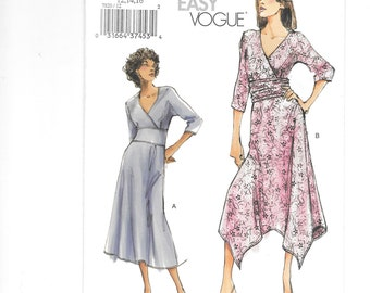Vogue 7820, Very Easy Vogue Pattern, Dress Pattern, Misses Dress, Dress, Sewing Pattern, Size 12-14-16, Uncut, Party Dress, Simple Dress