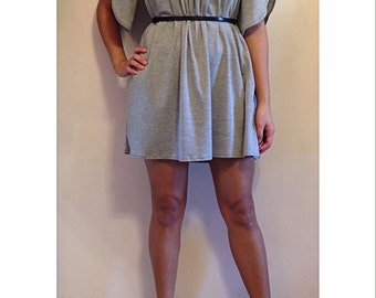 SALE | Size Small - Off the Shoulder Tulip Sleeve Dress - Heather Gray - Only One Available | off the shoulder dress | heather gray dress