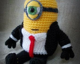 Minion James Bond Crochet Toy