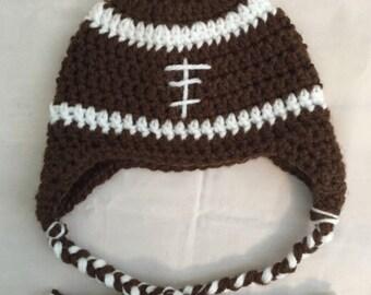 Crochet Football Hat, Football Beanie, Football hat
