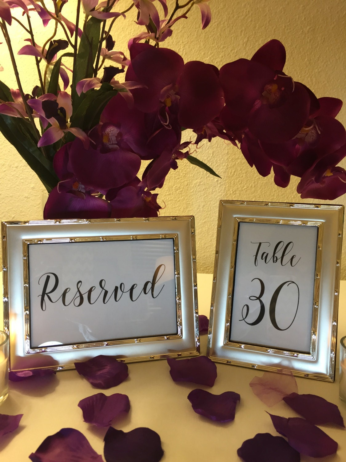 Printable Table Numbers Reserved Seating Signs