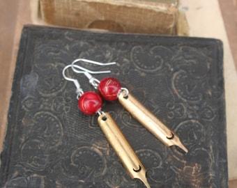 Nib Earrings, Pen Nib Earrings, Old fashioned Pen nib, Ink pen earrings, Ink pen, Writers gift, Calligraphy pen, pen and ink, writers gift,