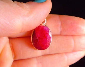 RUBY PENDANT Sterling Silver