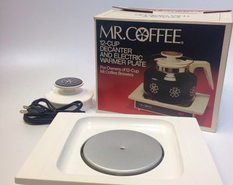 Mr Coffee Electric Warmer Hot Plate Soup Gravy Beverages White