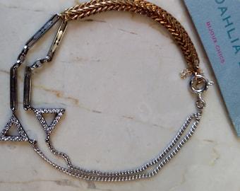 Vintage silver and gold-plated bracelet