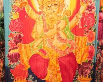 Large Screen Print Sarong, Ganesha 1