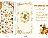 Sheet of The Little Fox / Forest / Critter Stickers - Planner Stickers, Planner Accesories, Kawaii, Japan, Korea, Ships from USA - BIN4