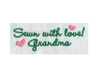 Sewn with Love! Grandma Embroidery Design - Instant Digital Download
