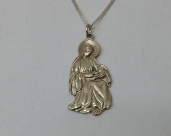 Followers of Holy Mary with baby Jesus silver SK375